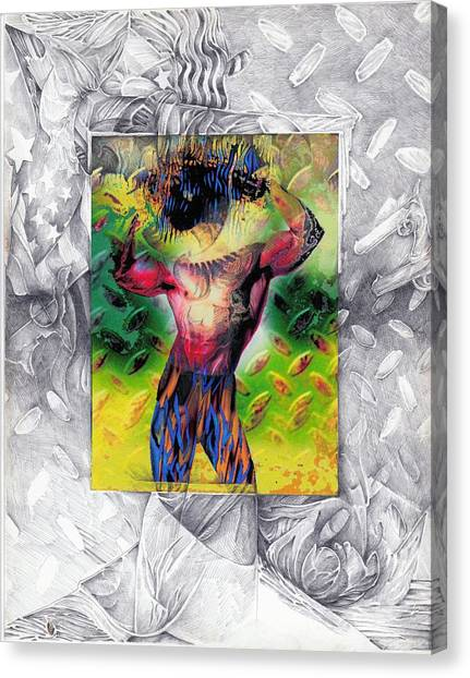 Eye-con Digi-man Canvas Print by Leo Vincent