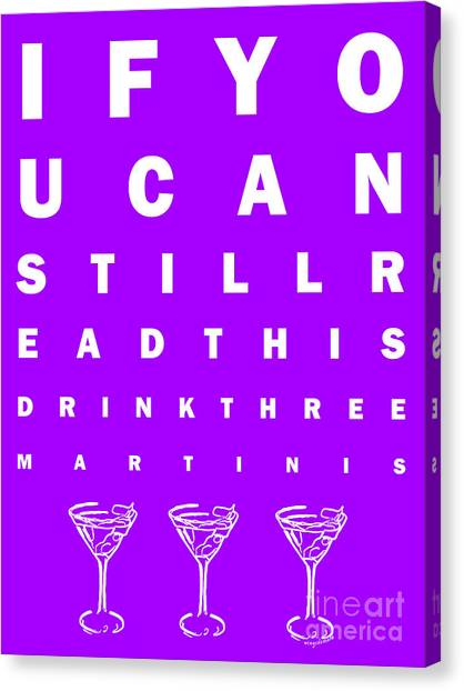 Eye Exam Chart If You Can Read This Drink Three Martinis Purple