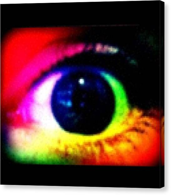 Rainbows Canvas Print - Eye by Lea Ward