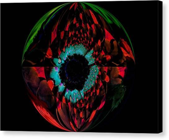 Eye Of A Peacock... Canvas Print by Tanya Tanski