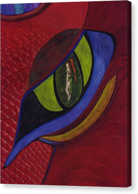 Warrioress Canvas Print - Eye Of The Dragon  by Amy  McClosky