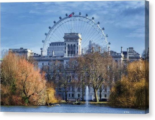 London Eye Canvas Print - Eyeing The View by Joan Carroll
