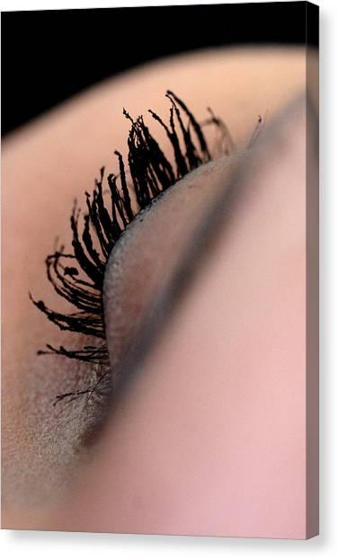 Eyelashes Canvas Print by JL Creative  Captures