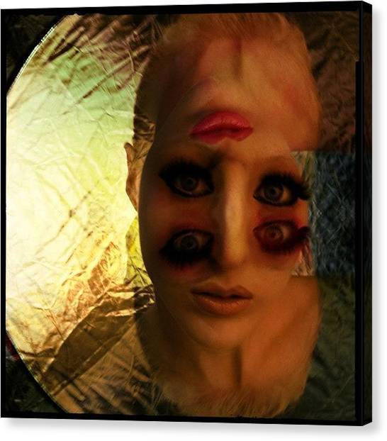 Lips Canvas Print - Eyes Without A Face by Bryon Paul Mccartney
