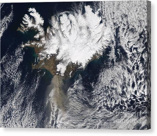 Eyjafjallajokull Canvas Print - Eyjafjallaj�kull Eruption, April 17 by NASA/Science Source