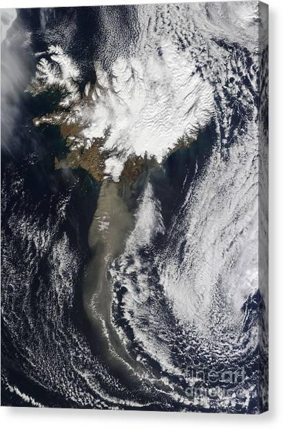 Eyjafjallajokull Canvas Print - Eyjafjallaj�kull Eruption, April 19 by NASA/Science Source