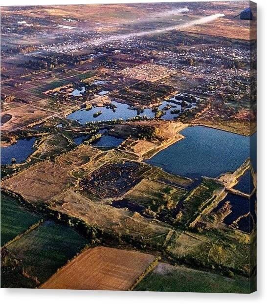 Argentinian Canvas Print - Ezeiza Buenos Aires Aerial View by Martin Endara