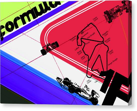 Formula Car Canvas Print - F1 by Naxart Studio