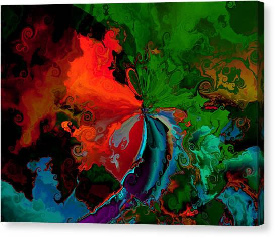Faa Abstract 3 Invasion Of The Reds Canvas Print