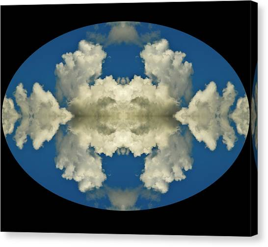 Face In Clouds At The Air Race Canvas Print by Russ Lopez