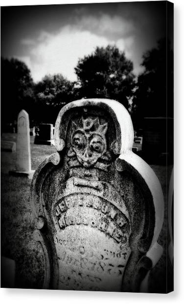 Face In The Grave Canvas Print