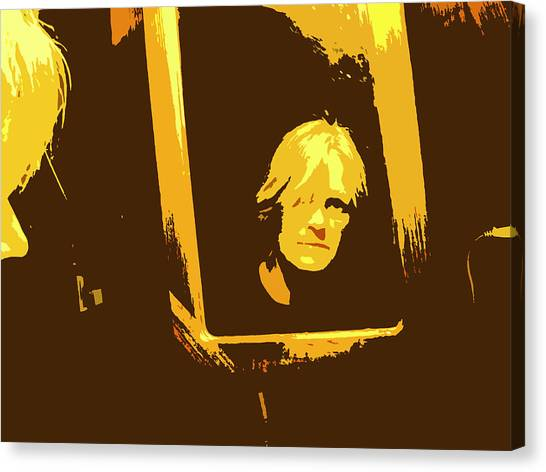 Face In The Mirror Canvas Print