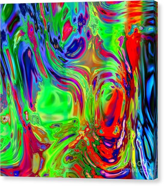 Faces Digital Painting Canvas Print by Heinz G Mielke