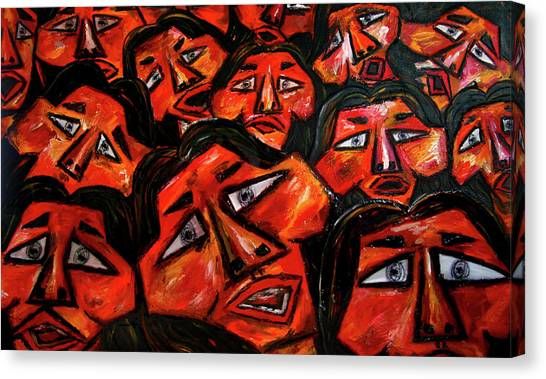 Canvas Print - Faces In The Crowd by Karen Elzinga