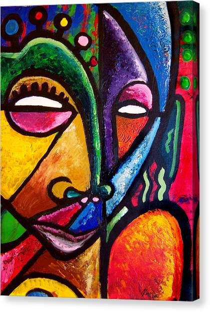 Faces Canvas Print by Kevin McDowell