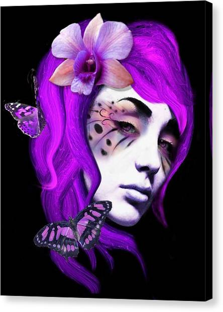 Faces Of Fay Violet Canvas Print by Diana Shively