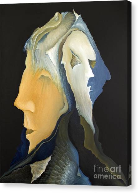 Facets Canvas Print by Joanna Pregon