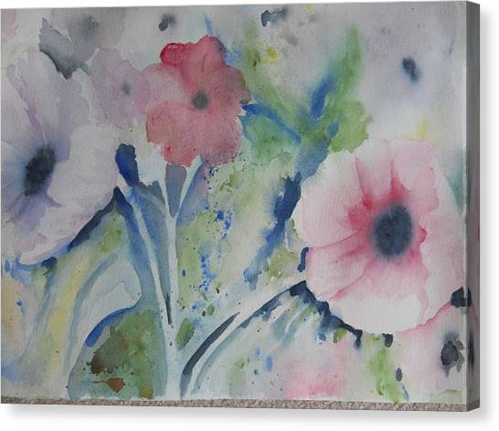 Faded Poppies Canvas Print