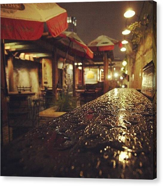 Austin Canvas Print - Fado's Patio After A Rain by James Granberry