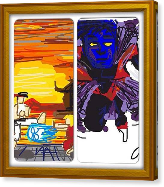 Karate Canvas Print - Failed Drawing I Did A Month Or Two by Kidface Anbessa-Ebanks