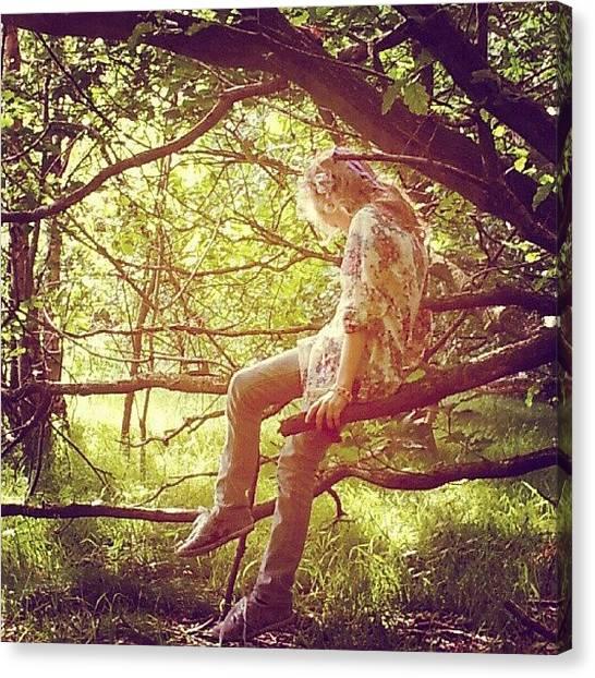 Fairies Canvas Print - #fairy #fairies #tree #trees #magical by Little Images