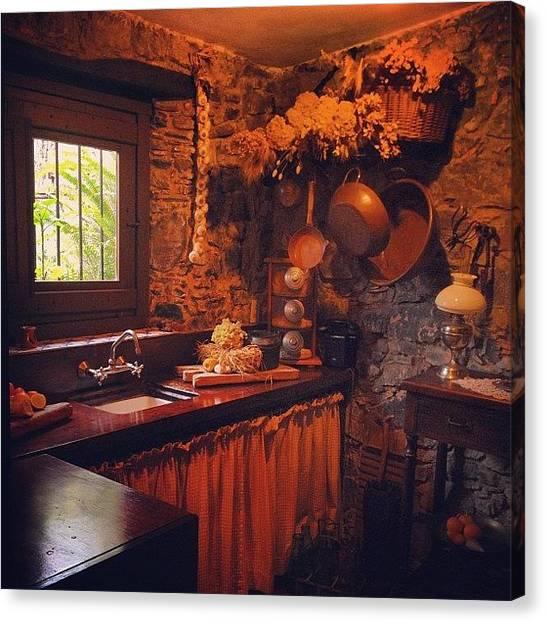 Farmhouse Canvas Print - Fairy Tale Kitchen by Diego Jolodenco