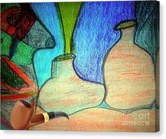 Fake Pipe Canvas Print by Fania Simon