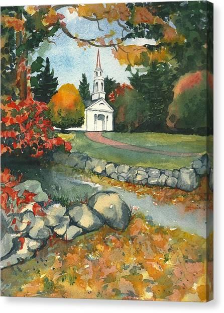 Fall At Martha-mary Chapel - Sudbury Canvas Print