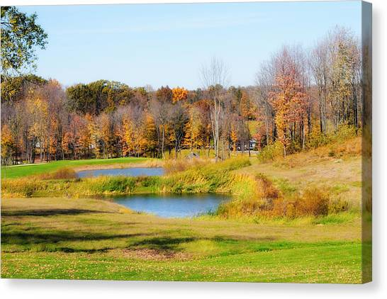 Fall At The Ponds Canvas Print