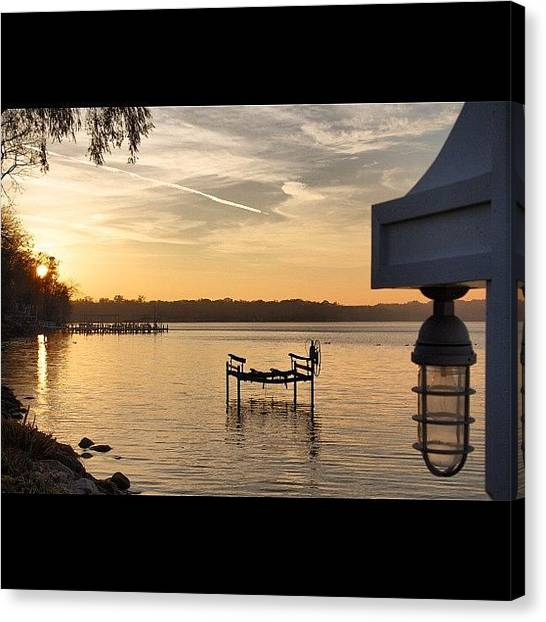 Wisconsin Canvas Print - #fall Boat Lift. #beautiful #scenery by Aran Ackley