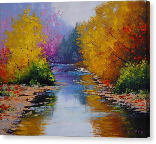 Aspen Forest Canvas Print - Fall Colors by Graham Gercken