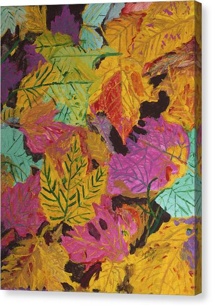 Fall Colors Of Maple Leaves Canvas Print
