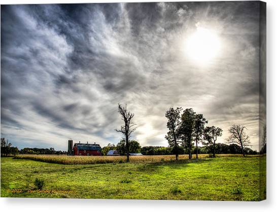 Fall Farm View Canvas Print by Dan Crosby