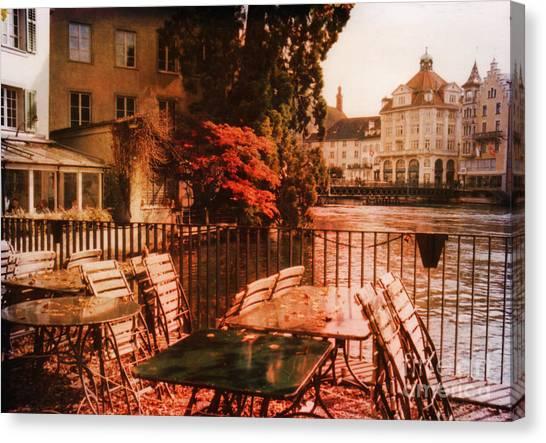 Architectur Canvas Print - Fall In Lucerne Switzerland by Susanne Van Hulst