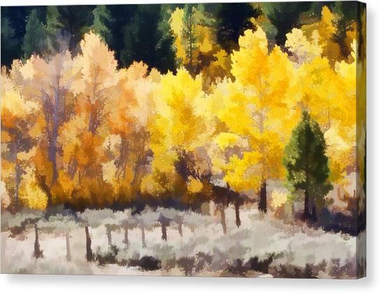 Lake Tahoe Canvas Print - Fall In The Sierra by Carol Leigh