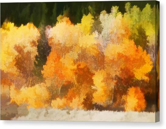 Lake Tahoe Canvas Print - Fall In The Sierra IIi by Carol Leigh