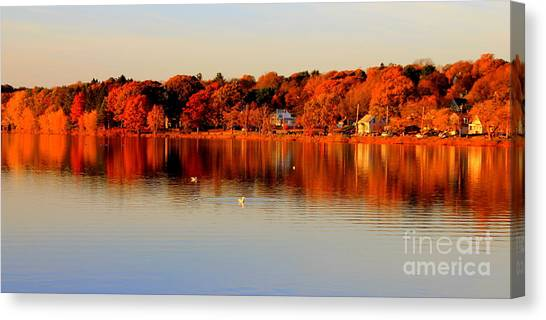 Fall On Horn Pond Canvas Print