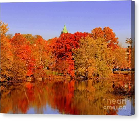 Fall On Mystic Lake Canvas Print