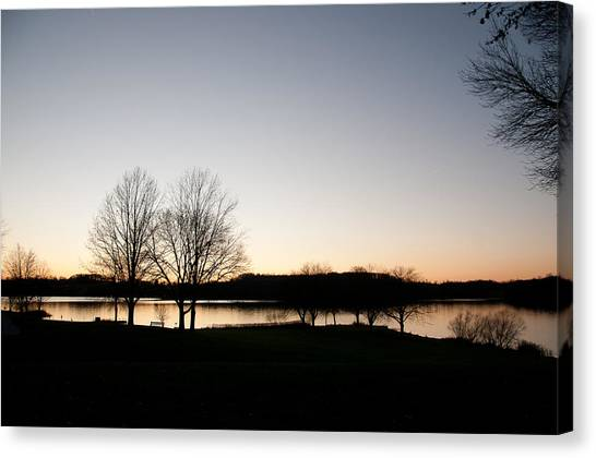 Fall Sunset Canvas Print by Herman Boodoo