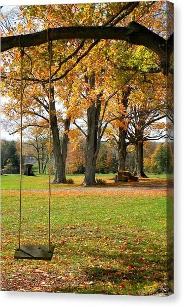 Fall Swing Canvas Print by Jennifer Compton