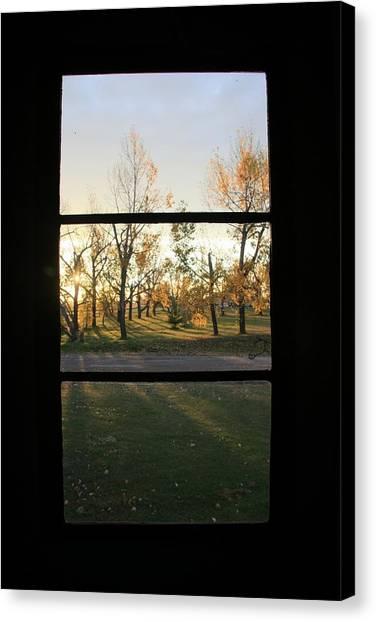 Fall Through The Window Canvas Print