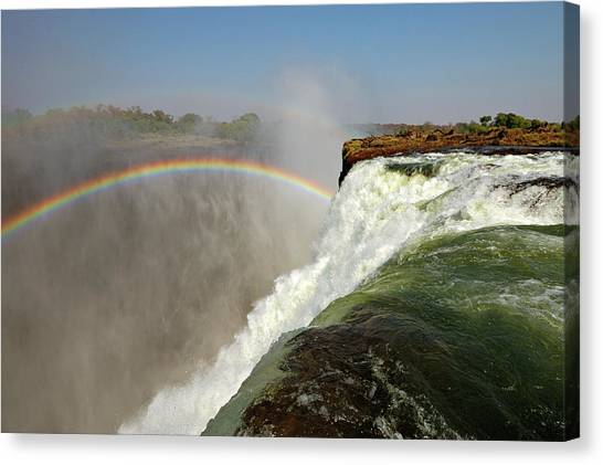 Victoria Falls Canvas Print - Falling Down  Falls, Zambia by © Pascal Boegli
