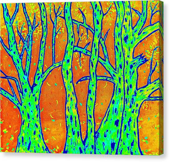 Falling Leaves Invert Canvas Print