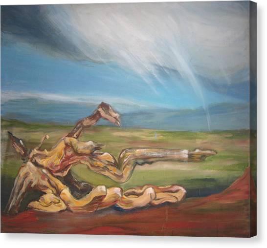 Falling Sky Canvas Print by Sophie Brunet