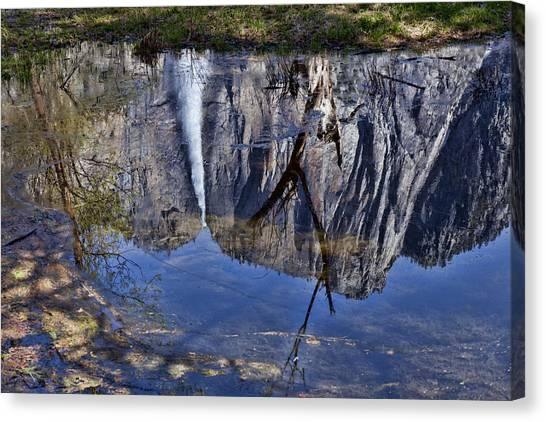 Yosemite Falls Canvas Print - Falls Pool Reflection by Garry Gay