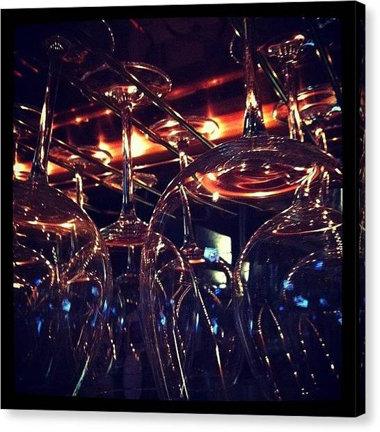 White Wine Canvas Print - Familiarity  by Rose Champagne
