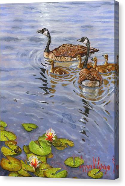 Catfish Canvas Print - Family Outing by Jeff Brimley
