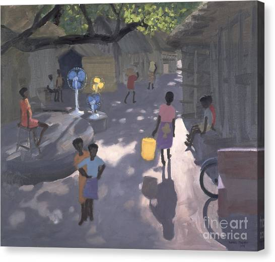 Kenyan Canvas Print - Fan Seller by Andrew Macara