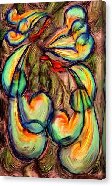 Fanciful Birds Canvas Print by Judi Quelland