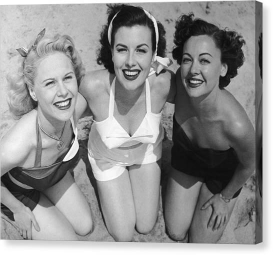 Fancy A Dip? Canvas Print by Archive Photos
